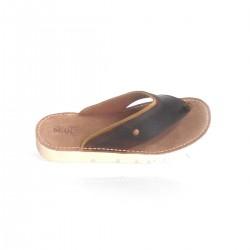Sandalia piel dedo
